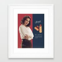 peggy carter Framed Art Prints featuring Peggy Carter by winnie