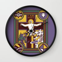 evangelion Wall Clocks featuring Illuminated Evangelion by C. A. Neal