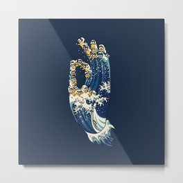 Jnana Mudra of Pug Metal Print