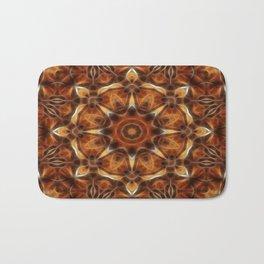 Brown Tan Gold Kaleidoscope Art 9 Bath Mat