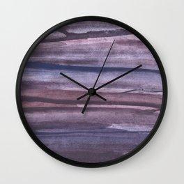 Violet brown streaked watercolor Wall Clock