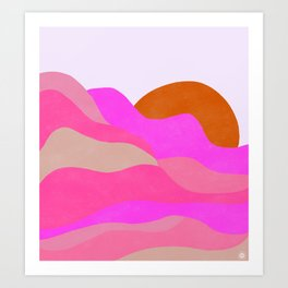 Adelaida, mountain sunrise Art Print