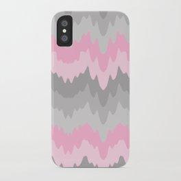 Pink Grey Gray Ombre Chevron Camo  iPhone Case