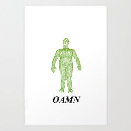 GREEN LINE Art Print