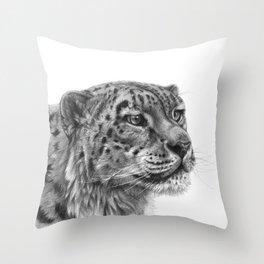 Snow Leopard G095 Throw Pillow