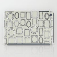 frames iPad Cases featuring picture frames bone by Sharon Turner