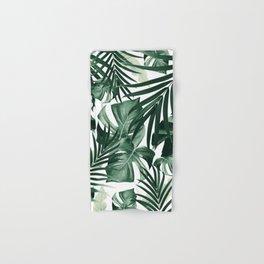 Tropical Jungle Leaves Pattern #4 #tropical #decor #art #society6 Hand & Bath Towel
