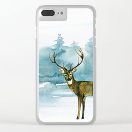 Winter Forest 1 Clear iPhone Case