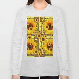 KANSAS WESTERN STYLE YELLOW SUNFLOWER FLORAL Long Sleeve T-shirt