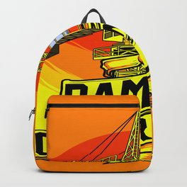 Tower Crane Sunrise Backpack