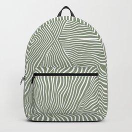 Boho, Safari, African, Pattern, Sage Green Backpack