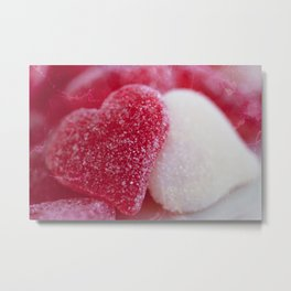 Be My Gummy Heart Metal Print
