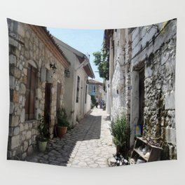 The Cobbled Back Streets Surrounding Old Marmaris Wall Tapestry