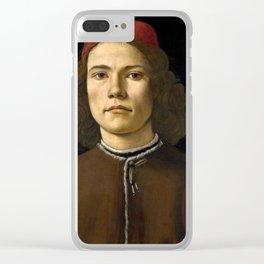 "Sandro Botticelli ""Portrait of a Young Man"" (II) Clear iPhone Case"