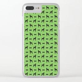 Dog and bone - Lurcher – mini green Clear iPhone Case