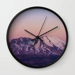 Mount Saint Helens at dusk Wall Clock