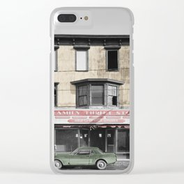 Vintage Thrift Shop Clear iPhone Case