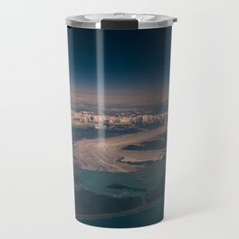 Aerial Glacier Three - Alaska Travel Mug