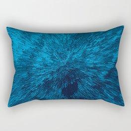 Bold Burst in Blue Rectangular Pillow