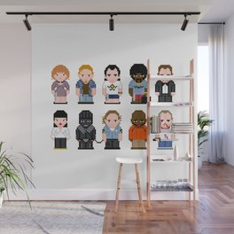 Pixel Pulp Fiction Characters Wall Mural