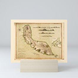Map of Curaçao, Lesser Antilles (1794) Mini Art Print