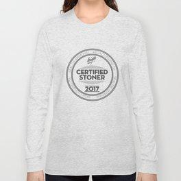 HIGH - Stoner Certification - Grey Long Sleeve T-shirt