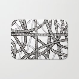 Pipes and Stripes Bath Mat