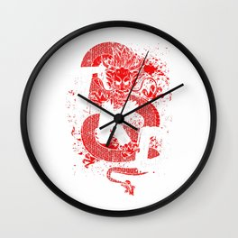 Taekwondo Gift Dragon Martial Arts Tae Kwon Do T-Shirt Wall Clock