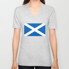 National flag of Scotland - Authentic version to scale and color Unisex V-Neck
