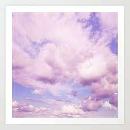 Pink Clouds In The Blue Sky #decor #society6 #buyart Art Print