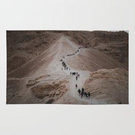 The Hike Up The Masada, Israel at Sunrise Rug