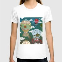 hot air balloons T-shirts featuring Hot Air Balloons I by minouette