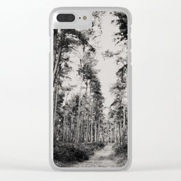 the path through the forest ... Clear iPhone Case
