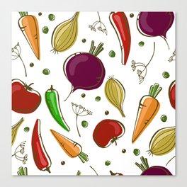 Fun vegetables Canvas Print