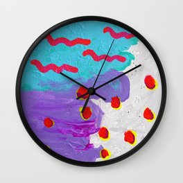 Earthworms in the Sky Wall Clock