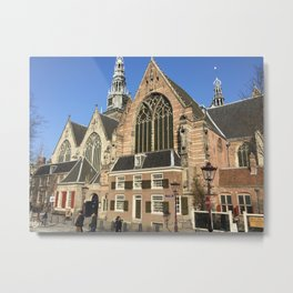 The Old Church of Amsterdam Metal Print