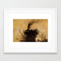 istanbul Framed Art Prints featuring istanbul  by Atalay Mansuroğlu