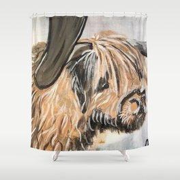 Highland Cow by Noelle's Art Loft Shower Curtain