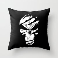 punisher Throw Pillows featuring Punisher by Spectral stories