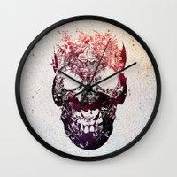 skull Wall Clocks featuring SKULL by Ali GULEC