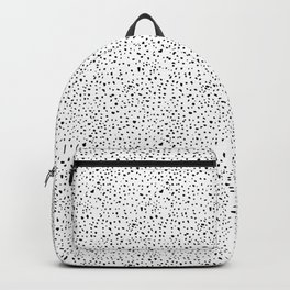 spotty dotty in black and white Backpack