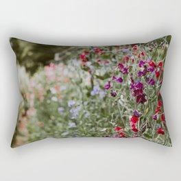 Sweet Pea Garden Rectangular Pillow