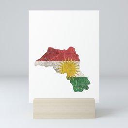 Kurdistan gift Kurds flag Mini Art Print
