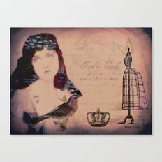 Beloved collage Canvas Print