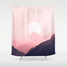 Gradient Sunset Shower Curtain