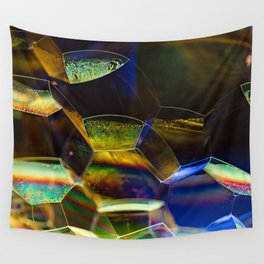Green Bubbles Wall Tapestry