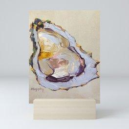 Oyster on a half shell Mini Art Print