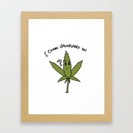 Canna Understand Framed Art Print