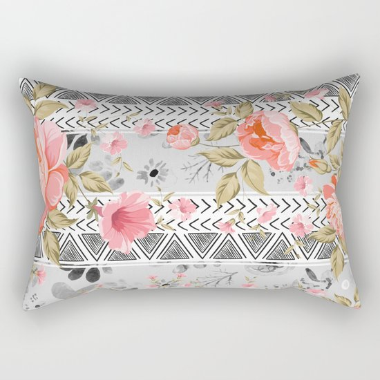 Pattern flowers with triangular shapes Rectangular Pillow