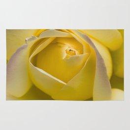 Yellow pastel rose Rug